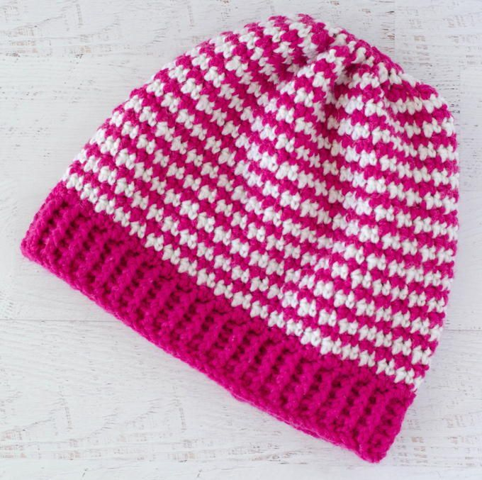 Houndstooth Hat Pattern | This crochet pattern is the ...