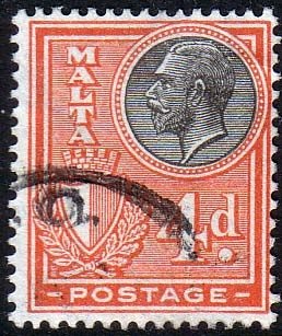 Malta 1926 King George V SG 163 Fine Used Scott 138 Other European and British Commonwealth Stamps HERE!