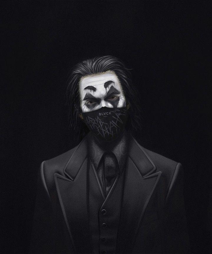Black Joker Face Mask Wallpaper Joker Face Joker Wallpapers Joker Black and white cool joker picture wallpaper