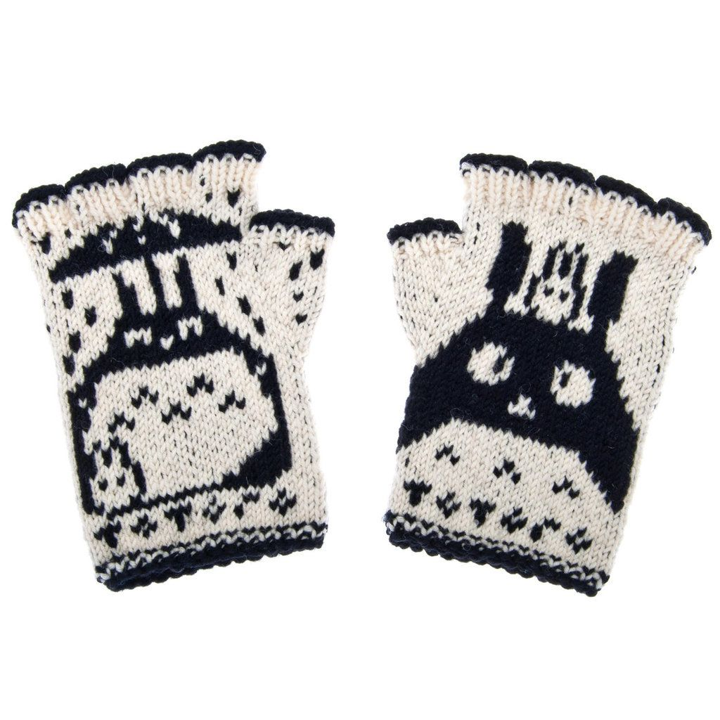 Youll want every single one of these miyazaki inspired gifts totoro hand knit fingerless wool gloves 50 bankloansurffo Images