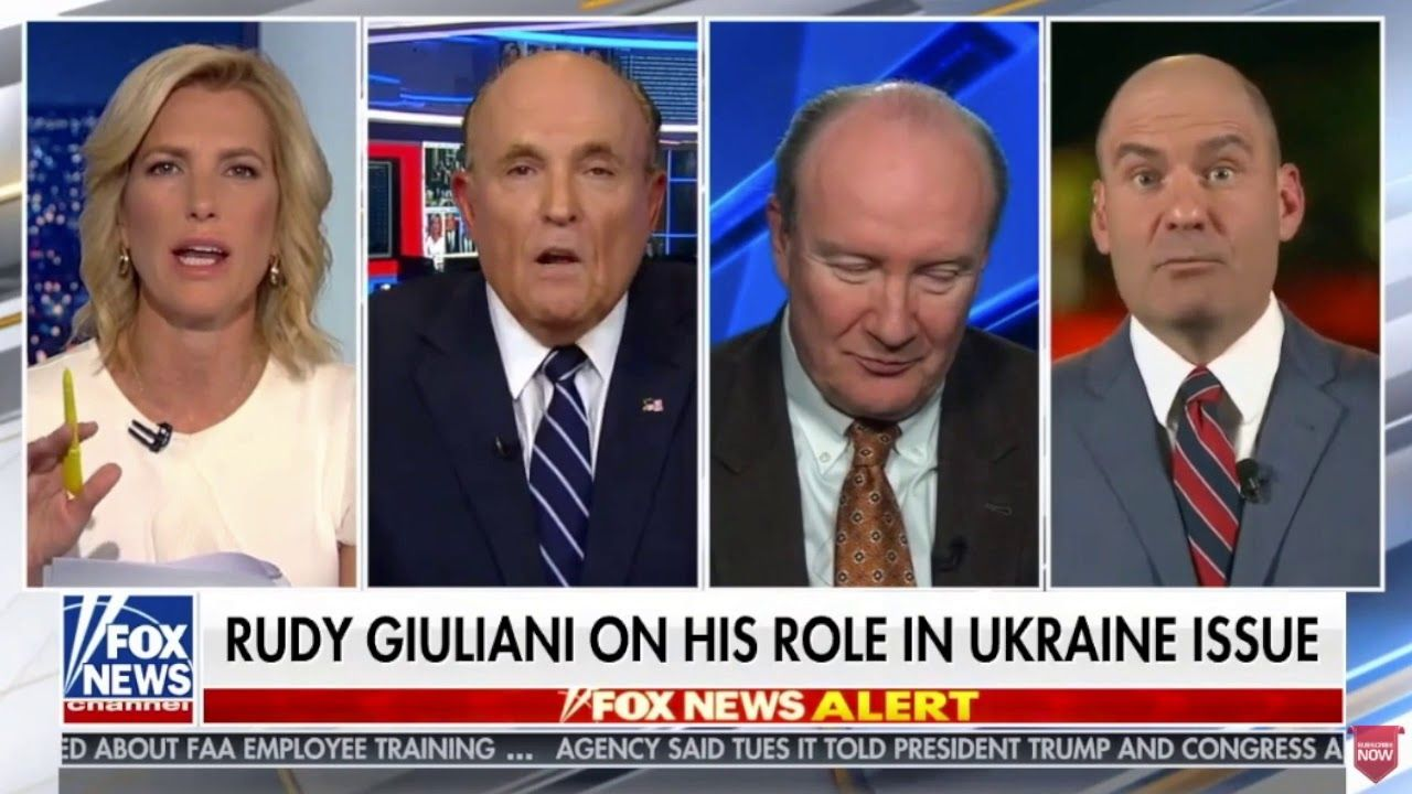 Rudy Giuliani Blows A Gasket On Chris Hahn With Images Rudy Giuliani Employee Training Youtube