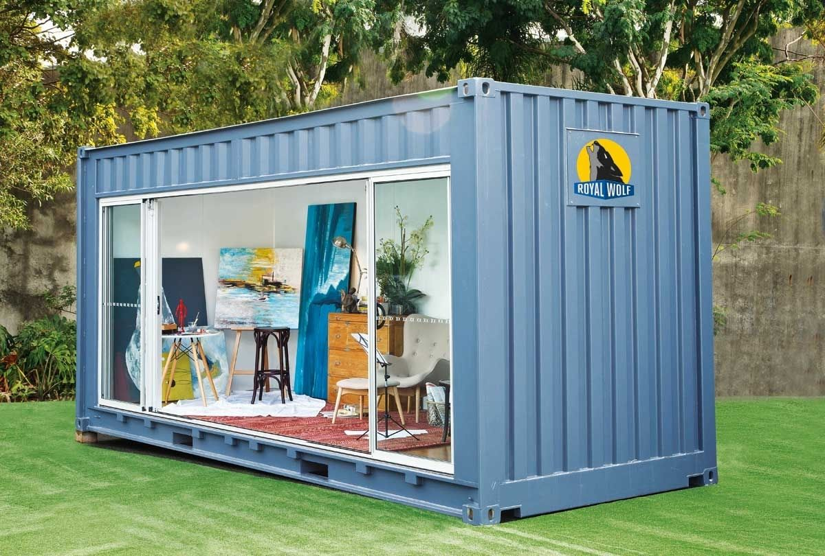 shipping container pool house in shipping container homes. Black Bedroom Furniture Sets. Home Design Ideas