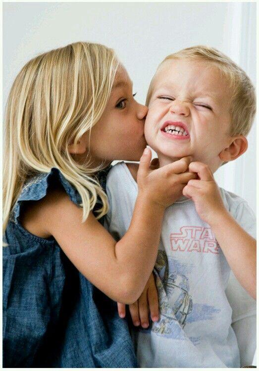 Прикольные картинки детских поцелуев, для