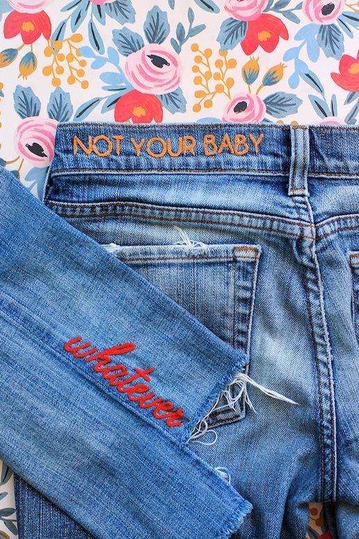 DIY: Embroidered Jeans | Le Fashion | Bloglovin'