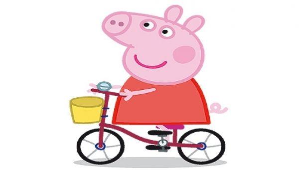 Peppa Riding Her Bicycle Peppa Pig Peppa Pig Peppa Pig Painting