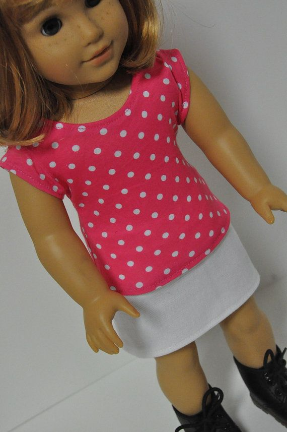 American Girl Doll Clothes Pink Zebra Print Shirt by CircleCSewing ...