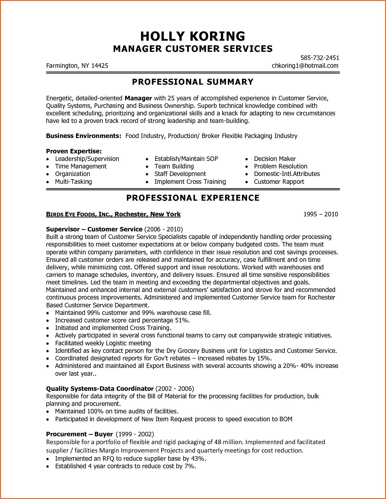 Customer Service Resume Examples Skills Event Planning Template  Resume Example For Customer Service