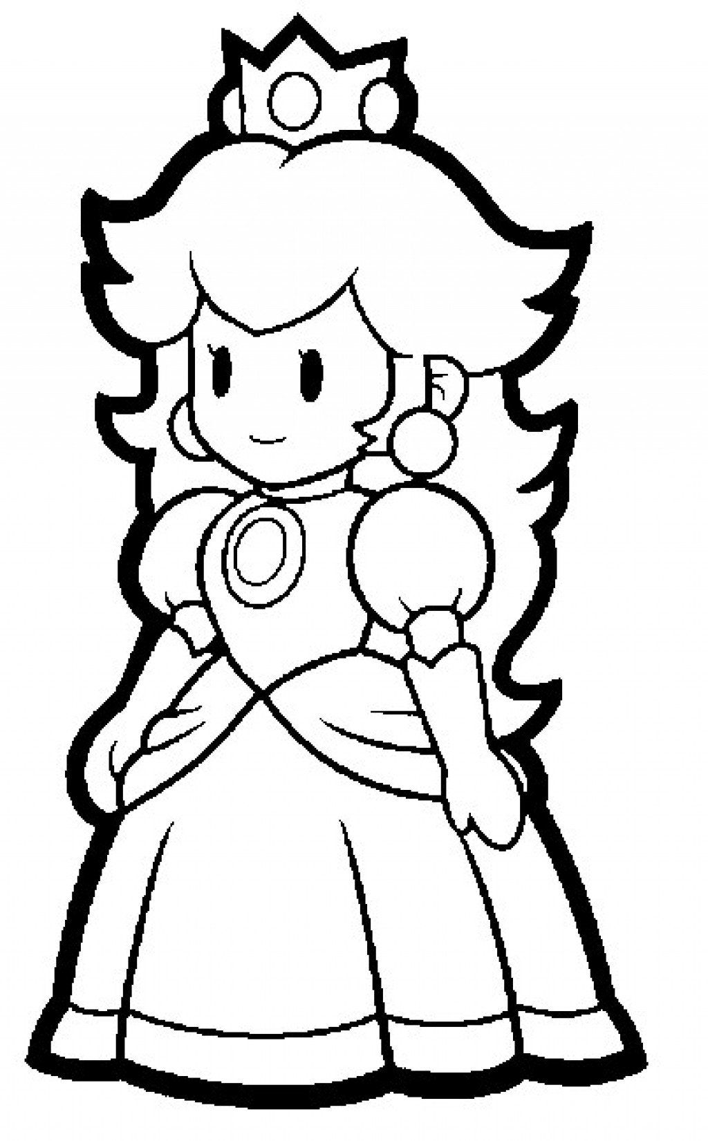 Paper Mario Coloring Pages To Print Concept