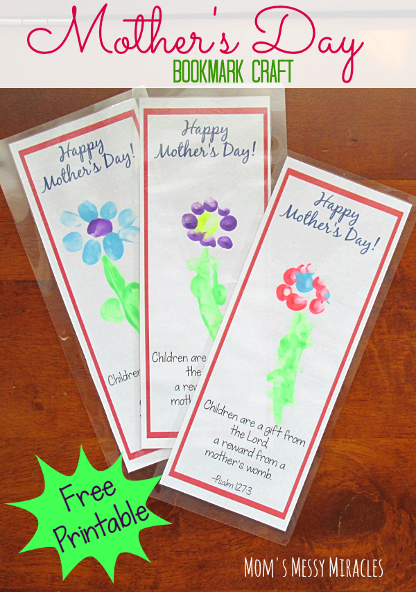 Free Printable Bookmark Craft For Mother S Day Mother S