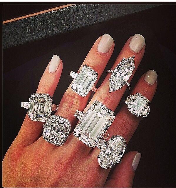 Beautiful huge engagement rings!