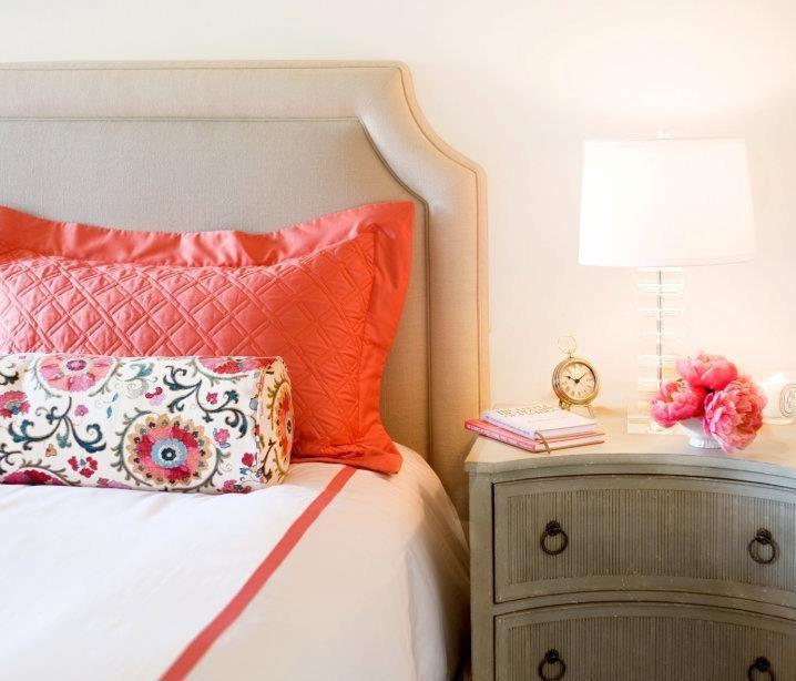 25 Stunning Transitional Bedroom Design Ideas: Amanda Teal Design: Beautiful, Beautiful Gray & Coral