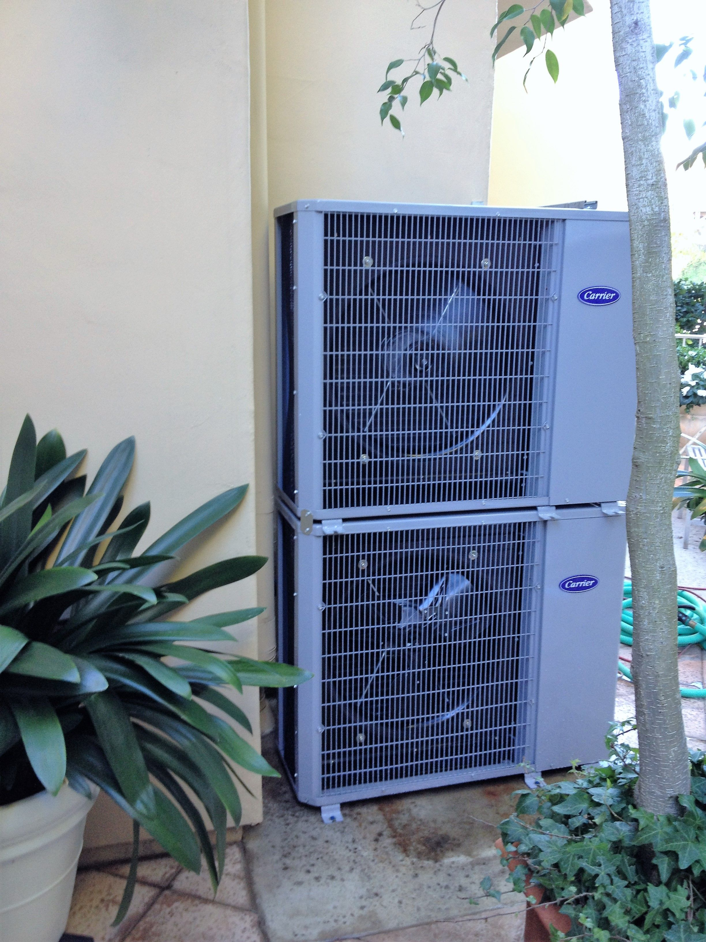 Carrier Slim Line Condenser Stacked We Create Our Own Mounting