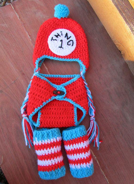 Baby Crochet Thing 1 2 Dr Seuss   Crochet Ideas   Pinterest