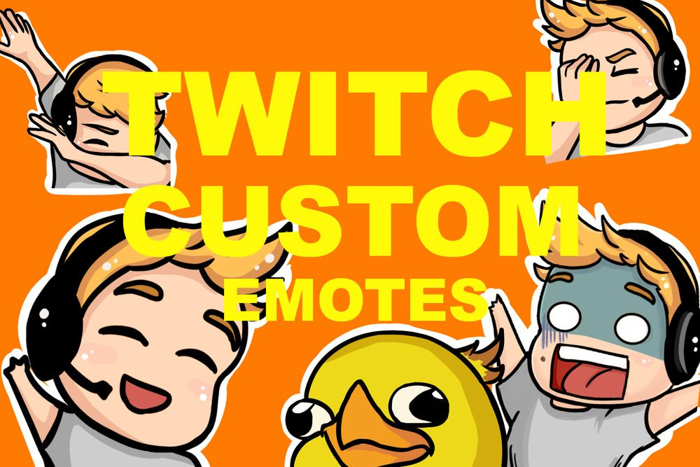 I Will Create Custom Twitch Emotes For You | Twitch - Emotes
