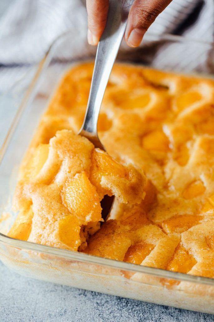 Peach Cobbler Cheesecake ` Peach Cobbler