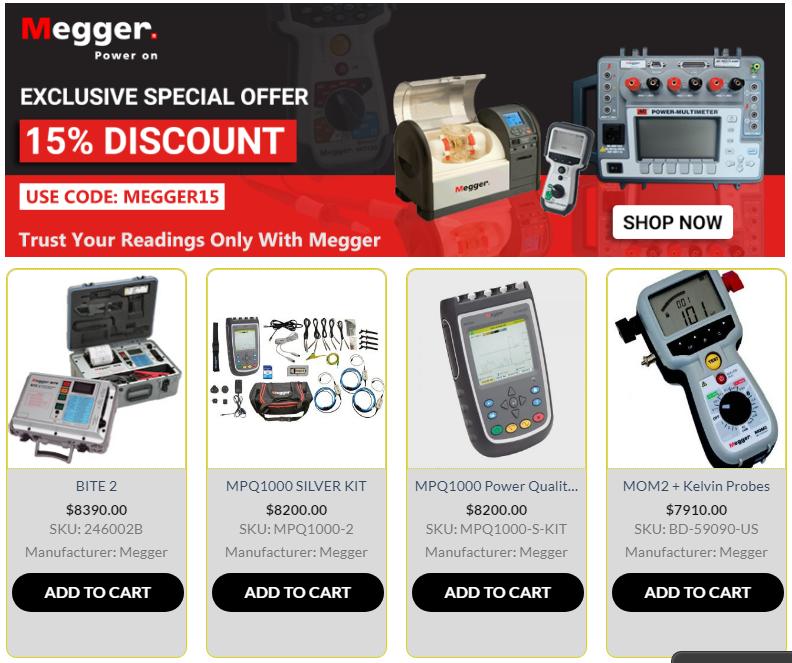 Megger Electrical Test Equipment Micro Ohmmeter Meg Ohmmeter Insulation Earth Tester Earthing Grounding Tester Probe