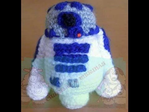 R2-D2 Amigurumi - Parte 4 de 8 - YouTube | muñecos | Pinterest
