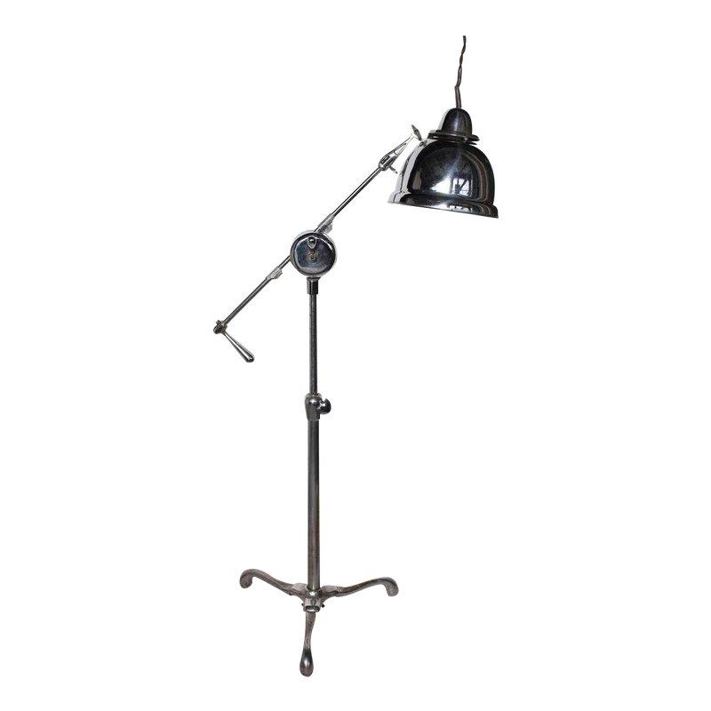 1940 S Vintage American Industrial Floor Lamp Industrial Floor Lamps Floor Lamp Adjustable Floor Lamp
