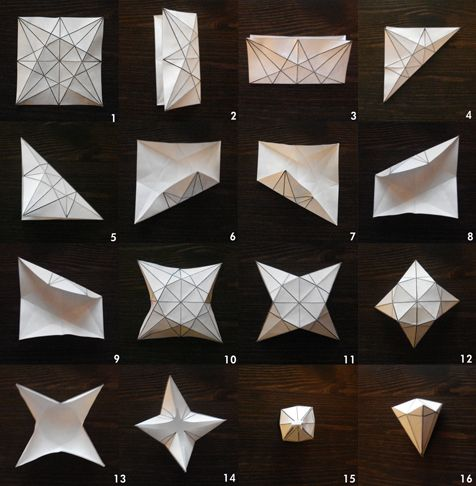 Make A Paper Diamond With Free Template