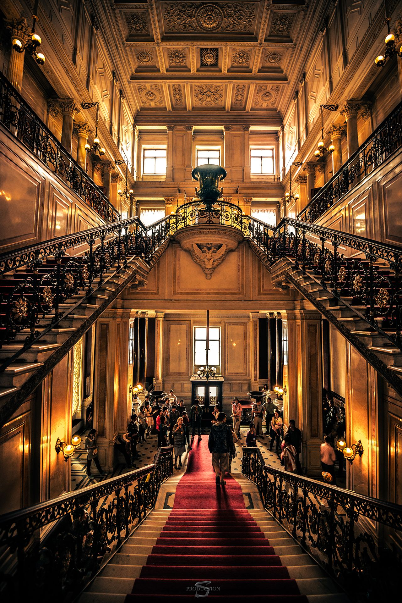 Elegant Staircases at Winter Palace, St Petersburg