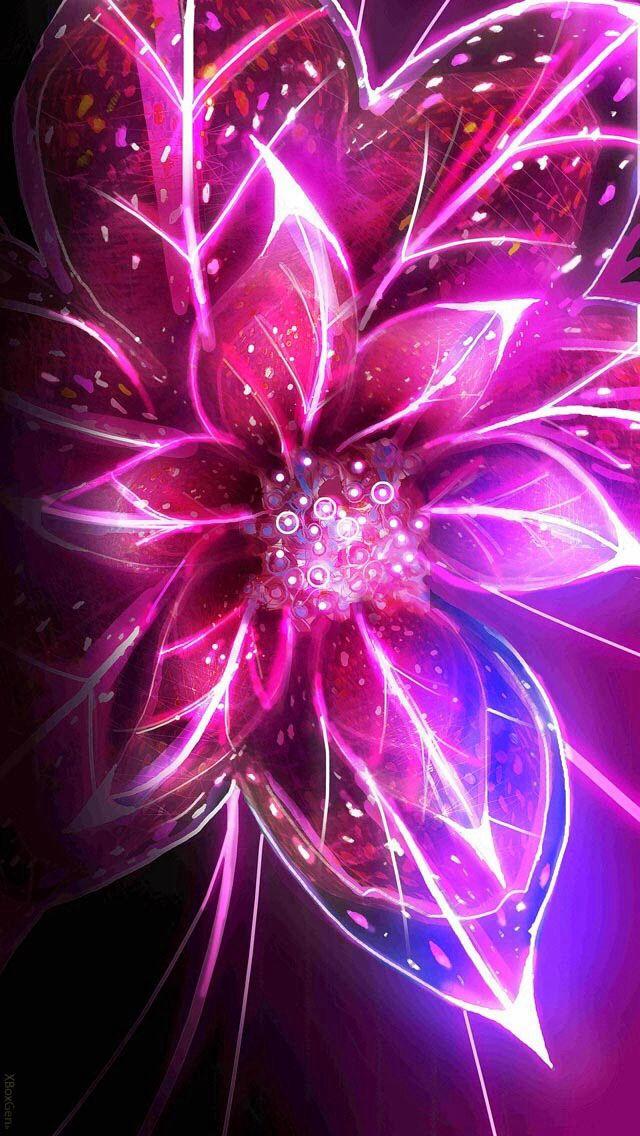 Pin By Kris Lawley On Art Neon Flowers Fractal Art Neon