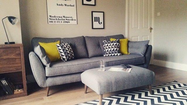 zinc 4 seater sofa i mydfs i. Black Bedroom Furniture Sets. Home Design Ideas