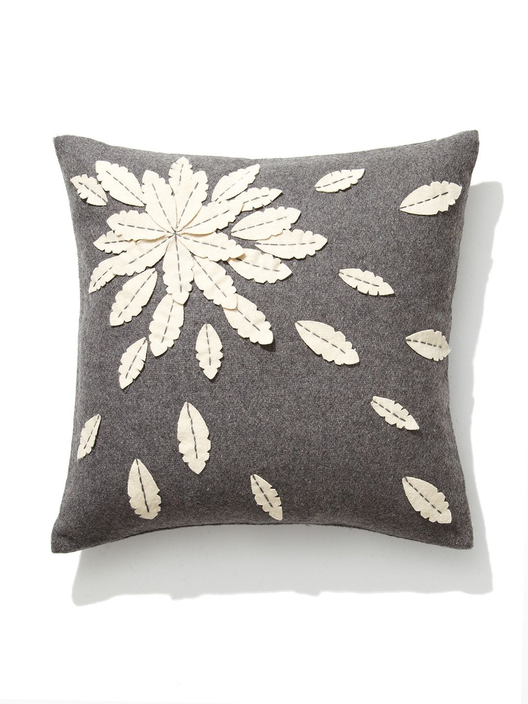 Felt Flower Applique Pillow By Design Accents At Gilt Family Room