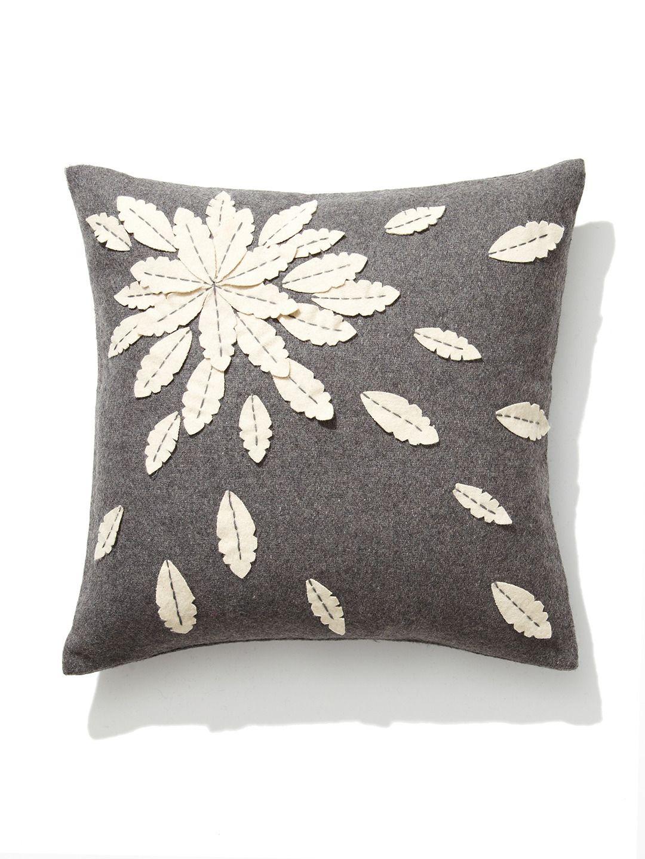 Felt Flower Applique Pillow by Design Accents at Gilt