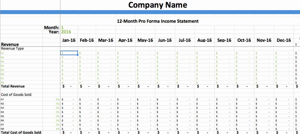 Pro forma Statement Example Lovely Pro forma In E