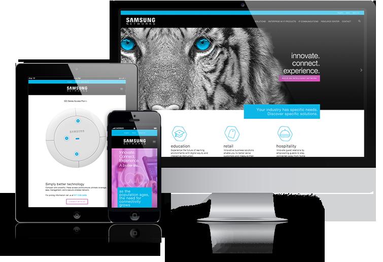 Responsive Web Design Website Design Samsung Networks Needed Their Website To Have A More User Friendly Layo Web Design Website Design Responsive Web Design