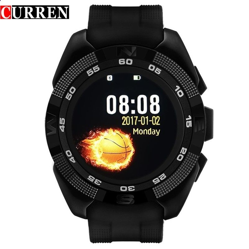 44.99$ Watch more here - aijy2.worlditems.... - CURREN X4 Smart Phone Watch Band Heart Rate Step Counter Stopwatch Ultra Thin Bluetooth Wearable Devices Sport For IOS Android