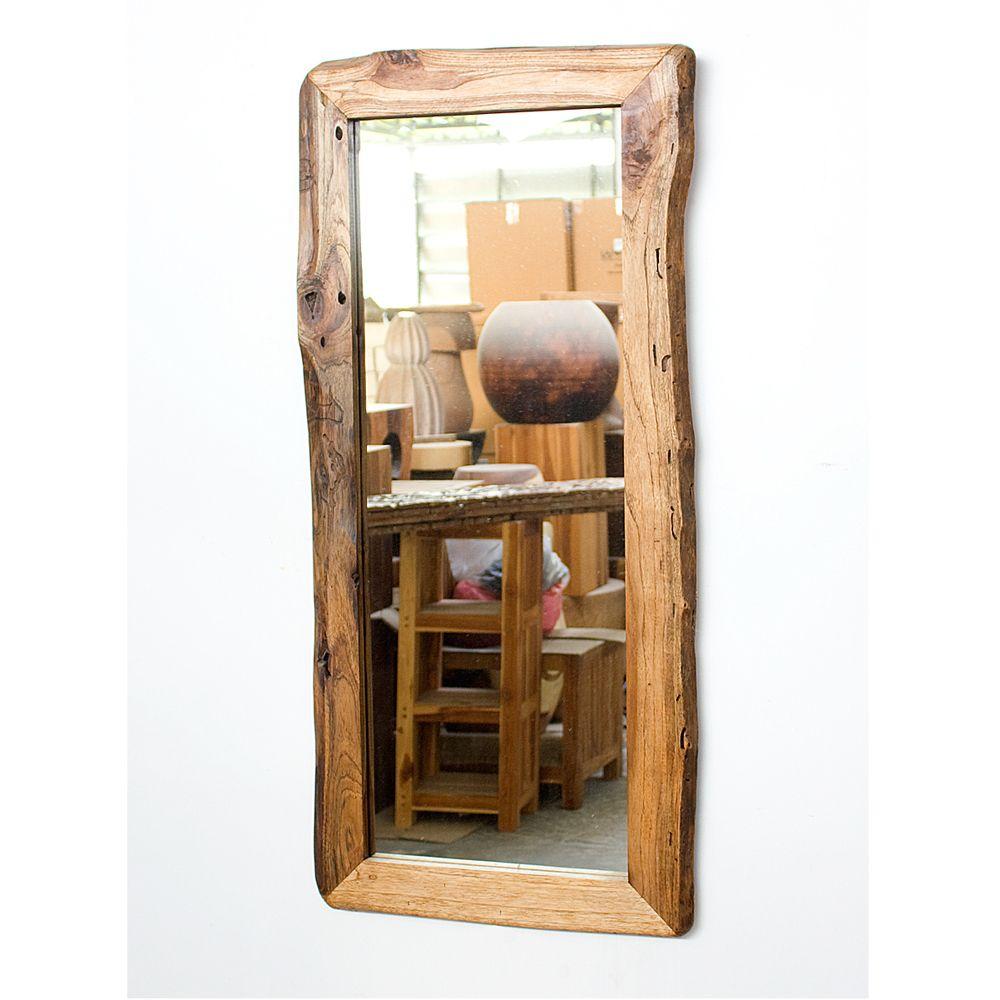 Teak Wood Walnut Oil Rectangular Floor Mirror | Home sweet home ...