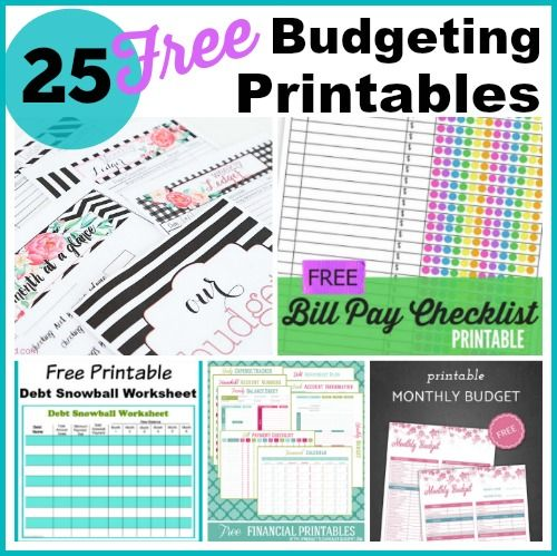 25 Free Budgeting Printables- Take Control Of Your