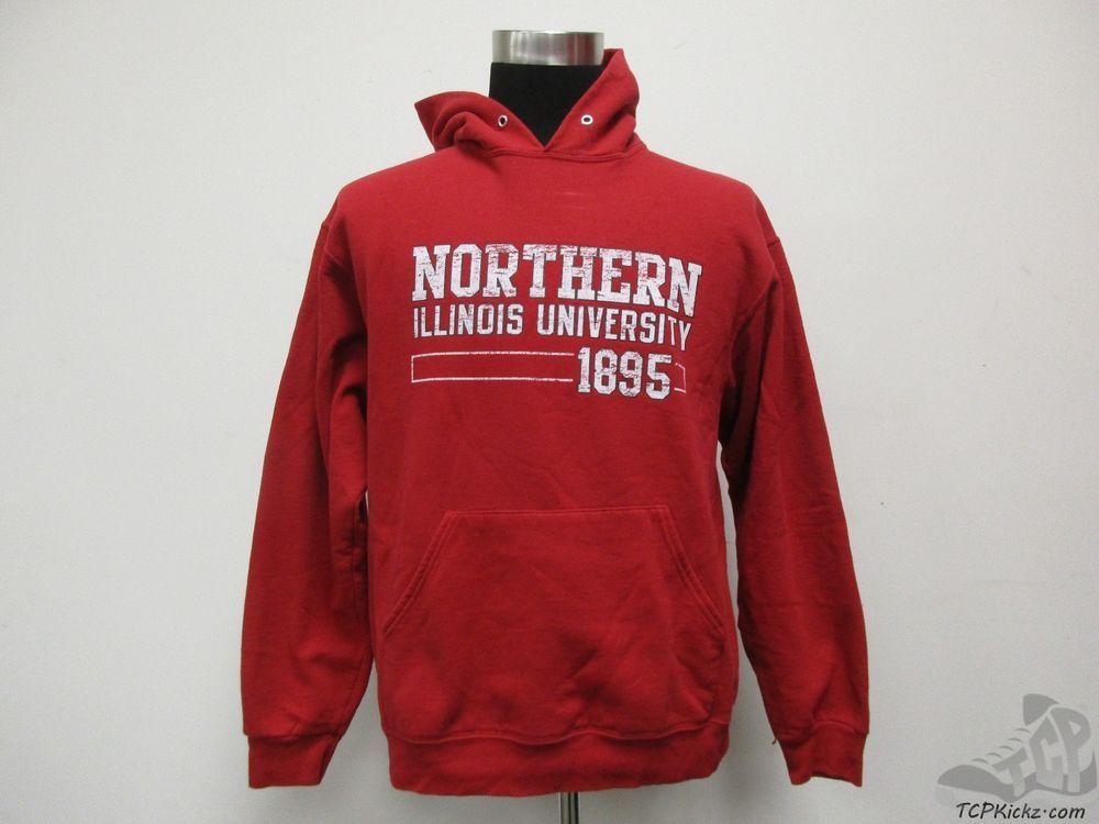 Jerzees Northern Illinois Huskies Hoody Sweatshirt sz L University NIU Hoodie #Jerzees #NorthernIllinoisHuskies #tcpkickz