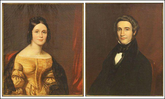 Chester #Harding, Portraits of Eben Brewer Foster and Lucy Ann Stevens Foster, Lot 148-6027 #american #oil #painting #portrait #landscape #estate #fineart #auction #singleowner #art