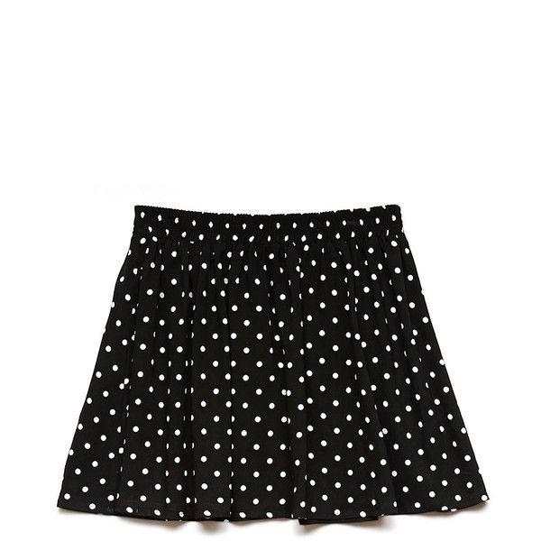 Forever 21 Women's  Polka Dot Skater Skirt ($8) ❤ liked on Polyvore featuring skirts, bottoms, full length skirt, circle skirt, forever 21 skirts, dot skirt and flared skirt