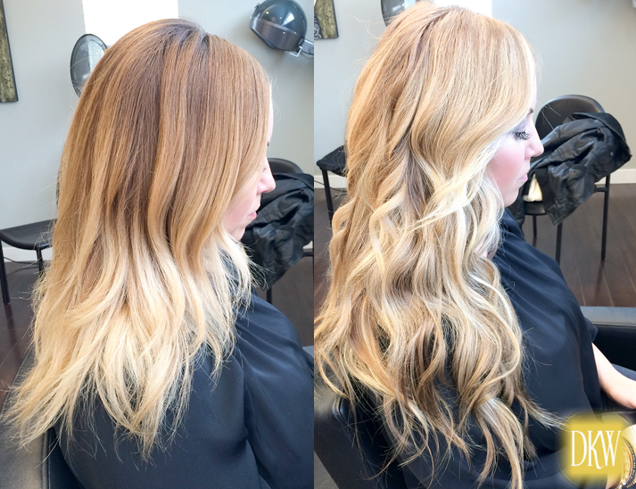 NBR hair extensions and color by dkwstyling