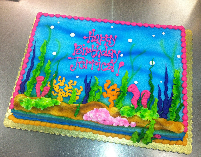Underwater scene cake by Stephanie Dillon LS1 HyVee work