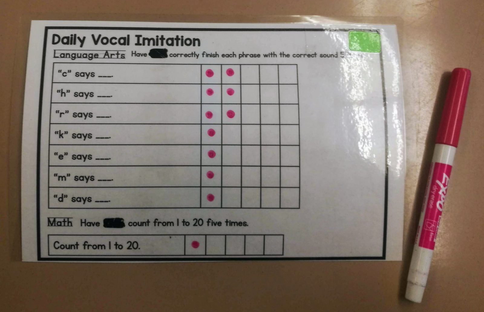 Focus On Five Data Sheets I M Using In My Classroom Right