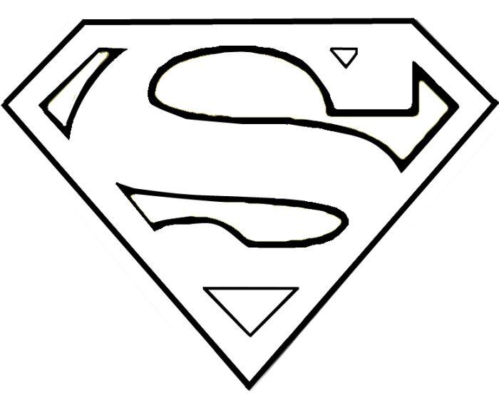 superman outline | thursday, september 16, 2010 | kids room ideas ... - Coloring Pages Superheroes Symbols