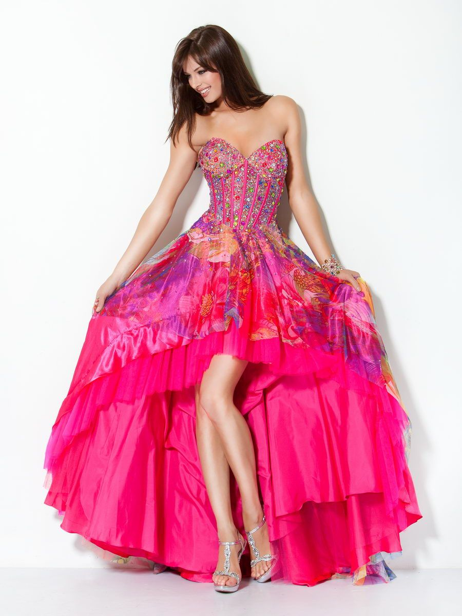 Beaded High-Low Corset Prom Gown, Style 17987   Dress for shelby ...