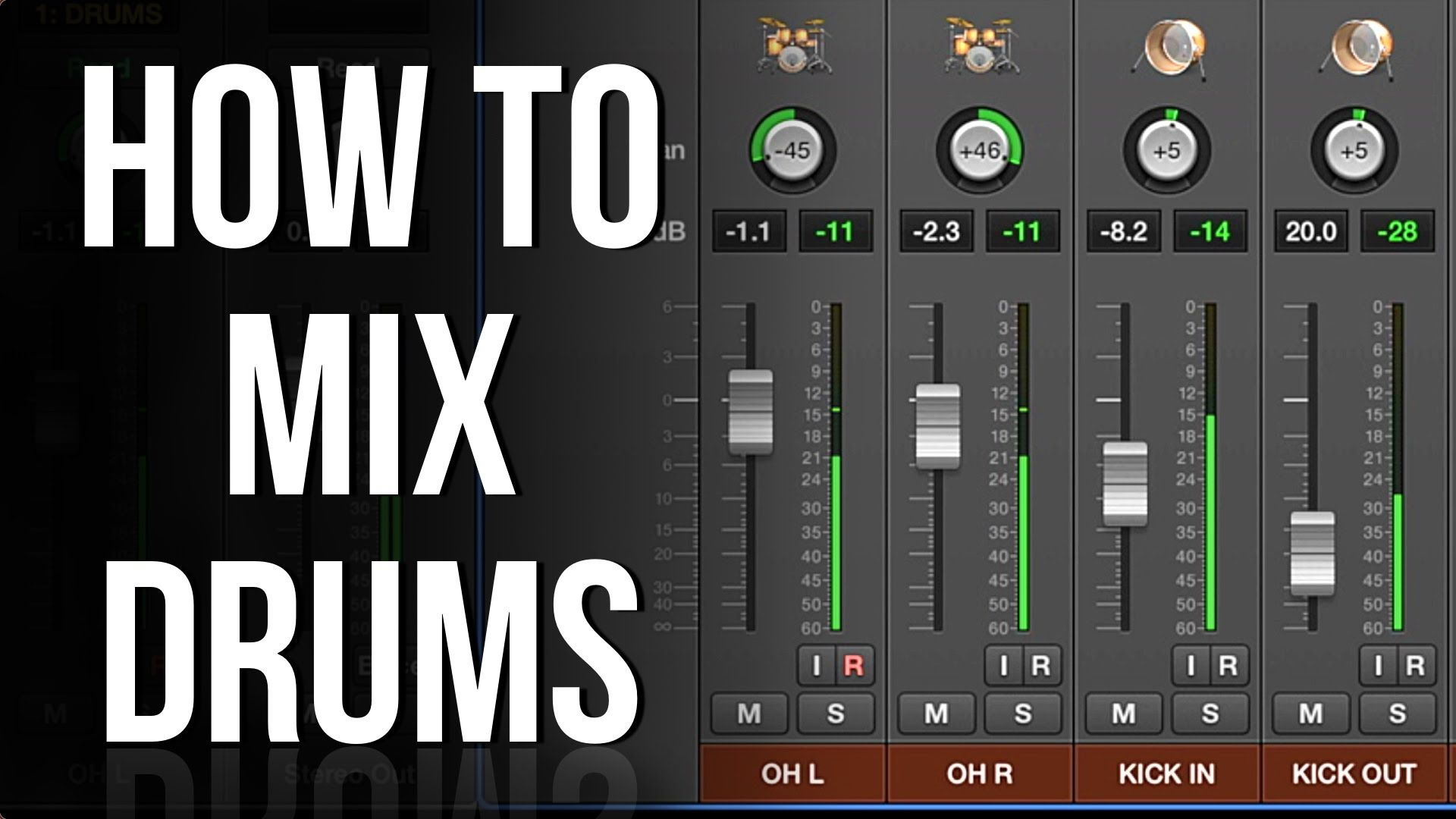 Part 1 Levels and Panning HOW TO MIX DRUMS Drums