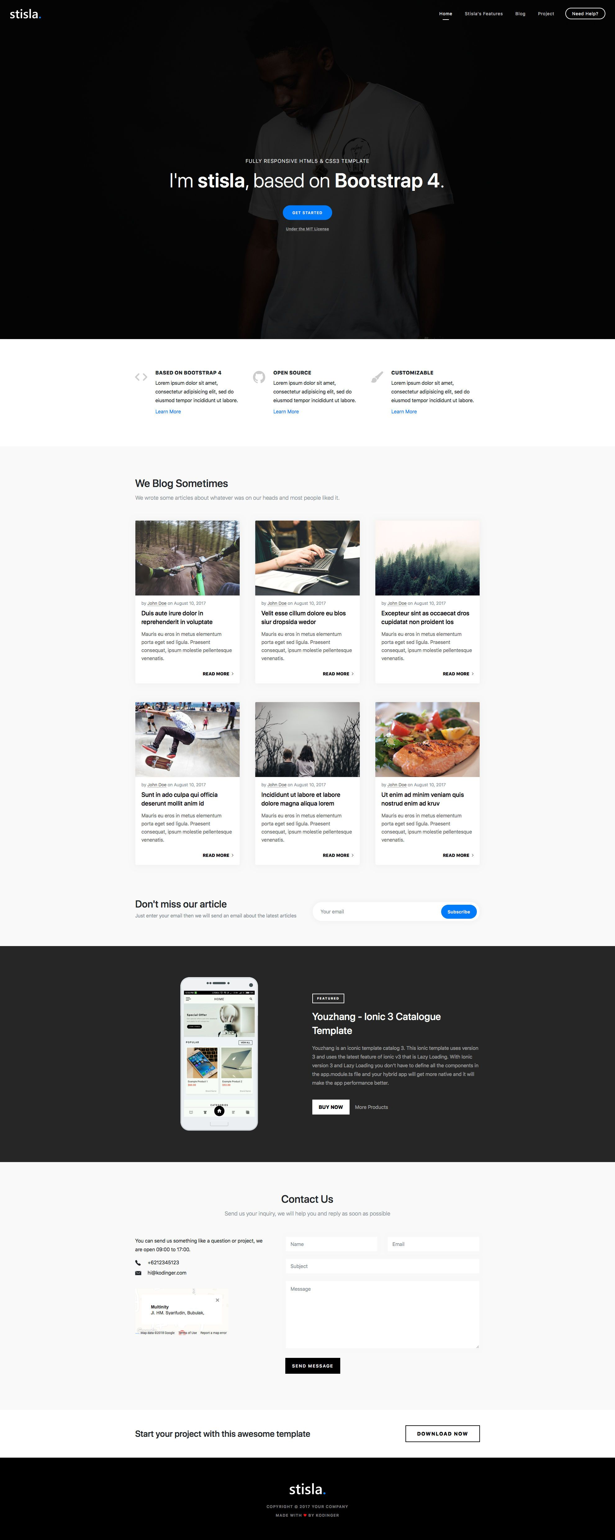 Stisla Free responsive HTML5 Bootstrap Business template