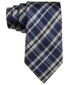 39799946d77f Calvin Klein Tie, Briton Slim Plaid - Ties - Men - Macy's | wedding ...