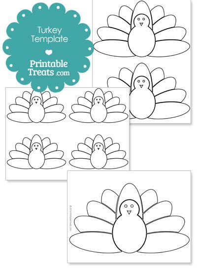 Printable Kids Turkey Shape Template From PrintabletreatsCom