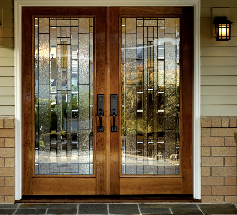Double doors for Full window exterior door
