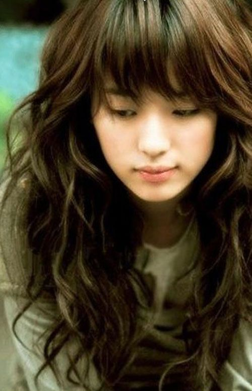 Medium Length Hairstyles For Thick Wavy Hair With Bangs Jcpzn