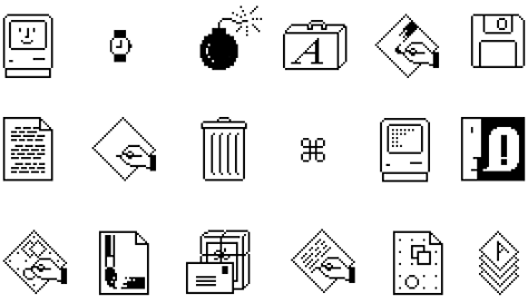 Old school Mac icons.