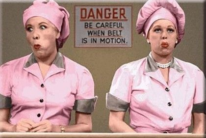 Lucy and Ethel at the Candy Factory