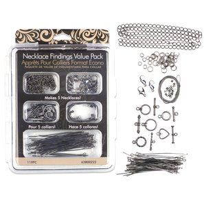 Necklace Findings Value Pack, Gunmetal